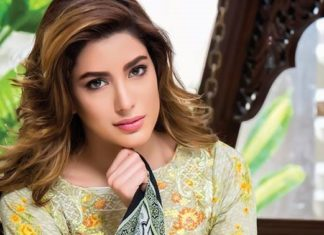 Mehwish Hayat in Sahil Designer Lawn Photoshoot 1